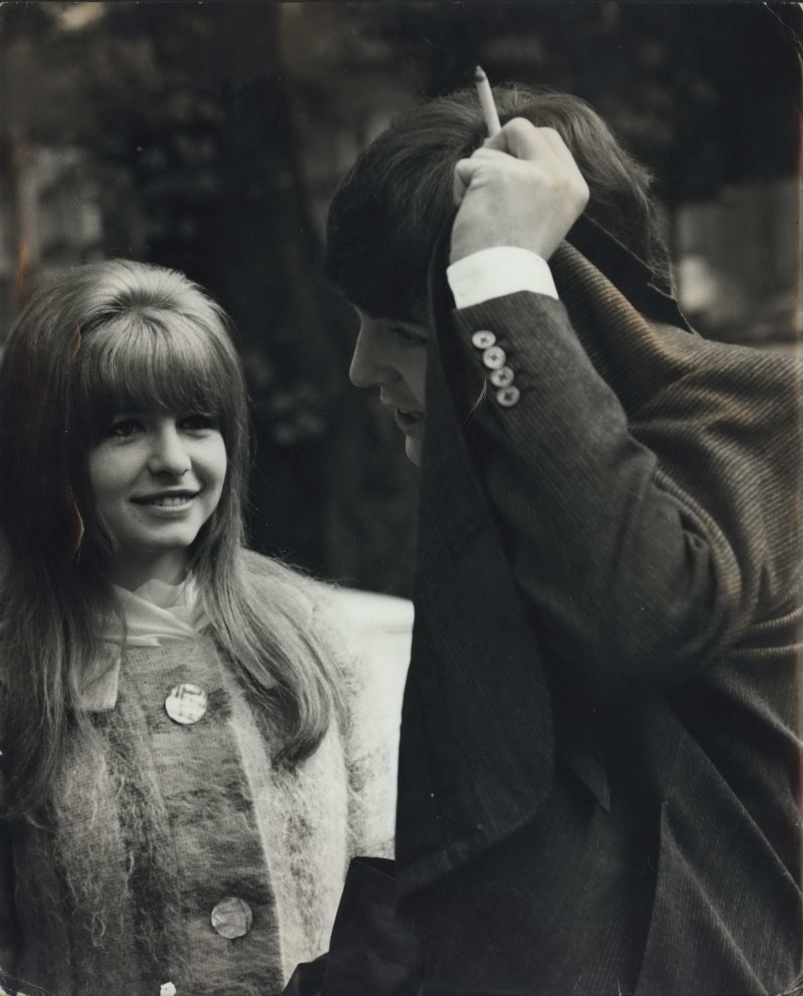 Paul McCartney With Girlfriend Jane Asher