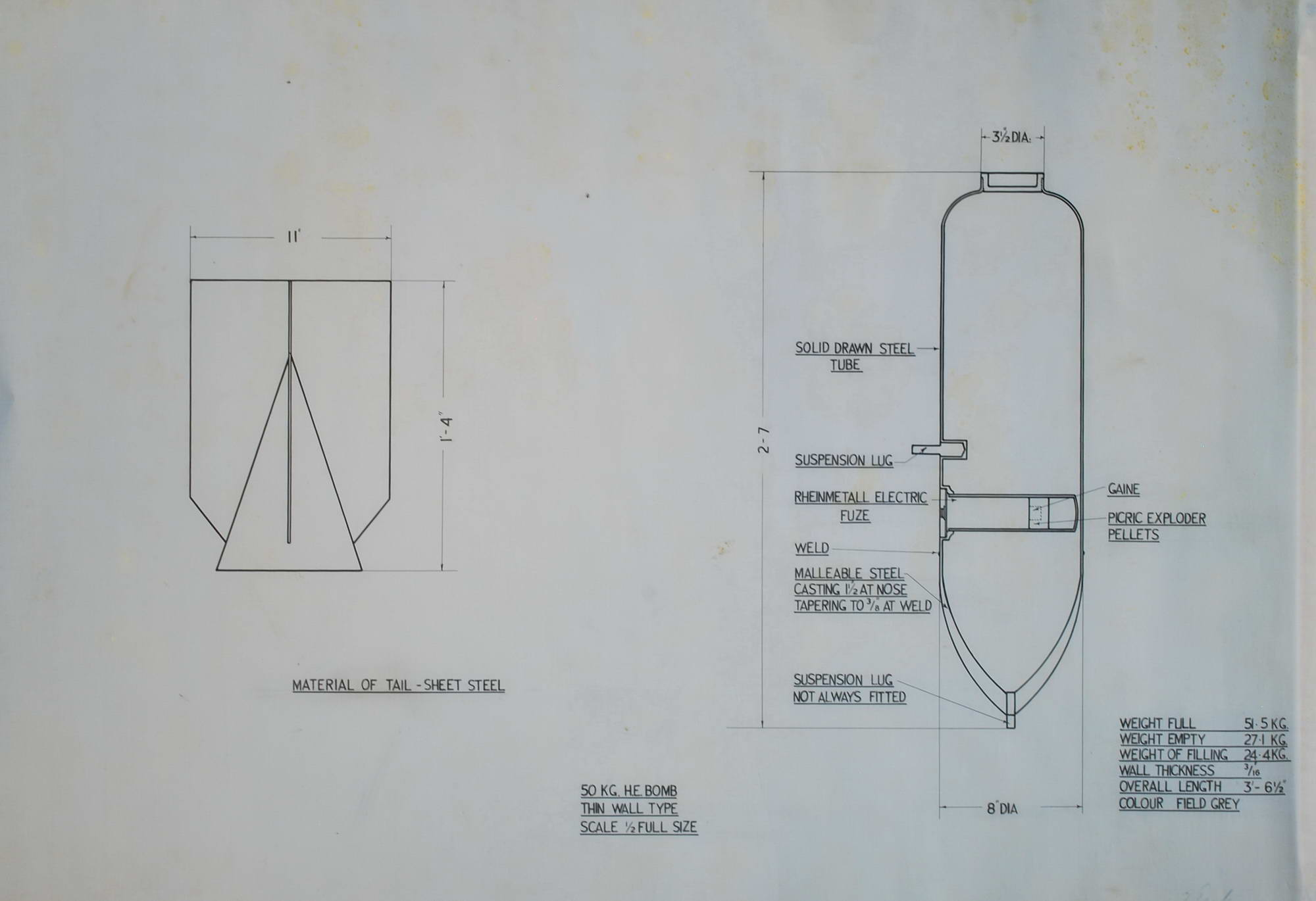Wwii British Enemy Bomb Disarming Diagrams Collection Wall Schematic Engineering Diagram