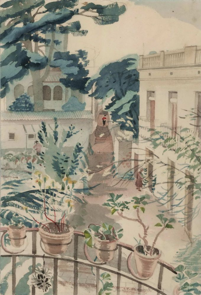 Barcelona Suburb [Spain]. Muriel Medworth, 1903- 1965 Aust.