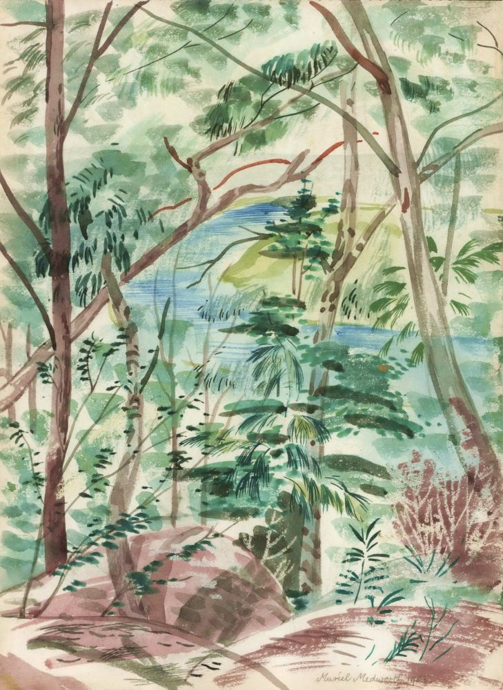 [Forest With Water View]. Muriel Medworth, Aust.