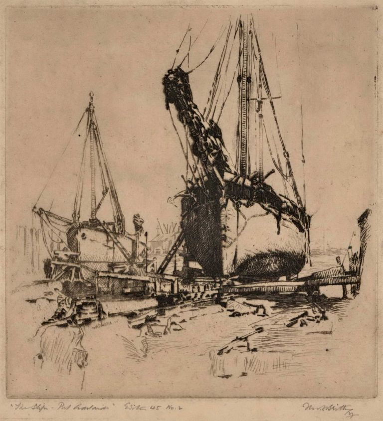 The Ship, Port Adelaide. Fred C. Britton, Aust.