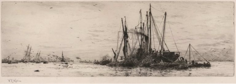 [Fishing Trawlers]. W L. Wyllie, British.