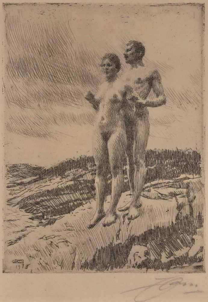 The Two. Anders Zorn, Swedish.