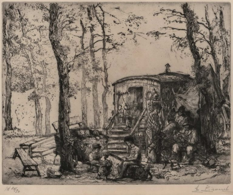 Cirque Ambulant. Auguste Brouet, French.