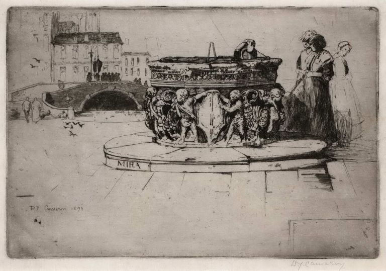 A Venetian Fountain. David Young Cameron, British.