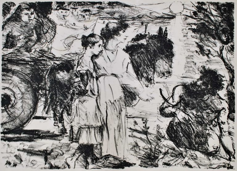 Odysseus And Nausikaa. Lovis Corinth, German.
