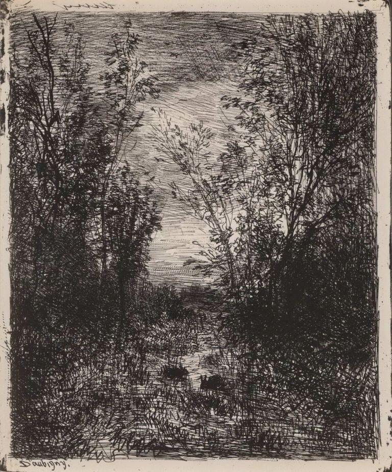 The Brook In The Clearing. Charles-François Daubigny, French.