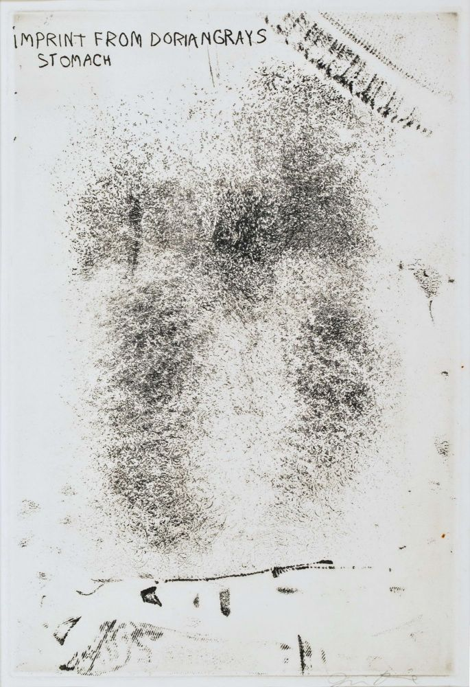 Imprint From Dorian Gray's Stomach. Jim Dine, b.1935 American.