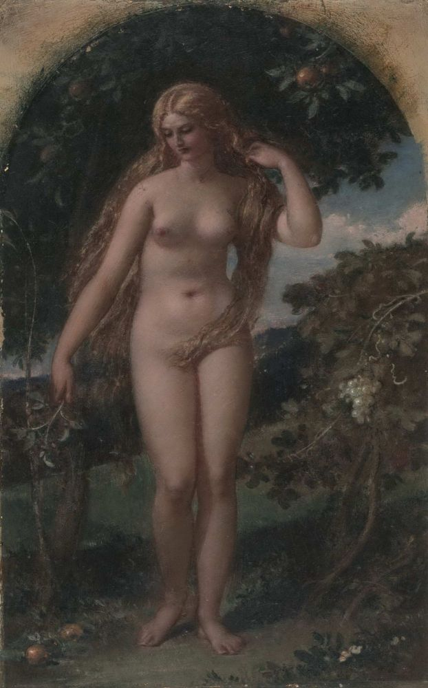 [Nude In Orchard]. William Edward Frost, British.