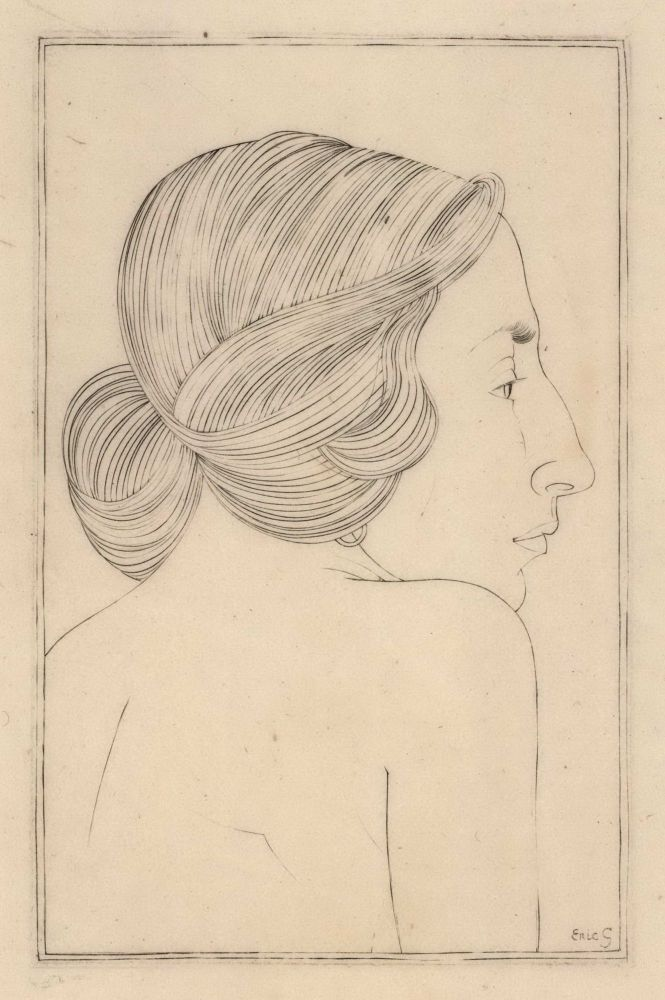 Portrait Of A Lady (Moira, Mrs Robert Gibbings). Eric Gill, British.