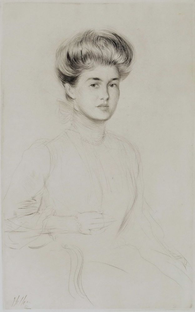 [Portrait Of A Woman]. Paul Helleu, French.