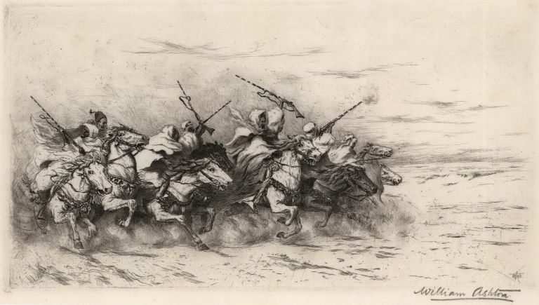 [The Desert Charge]. William Ashton, Brit.