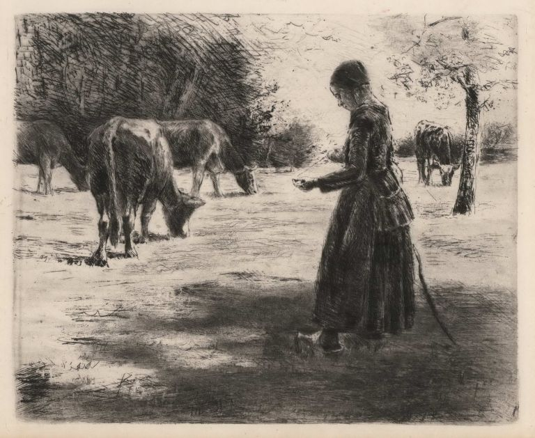 Auf Der Weide (In The Pasture). Max Liebermann, German.