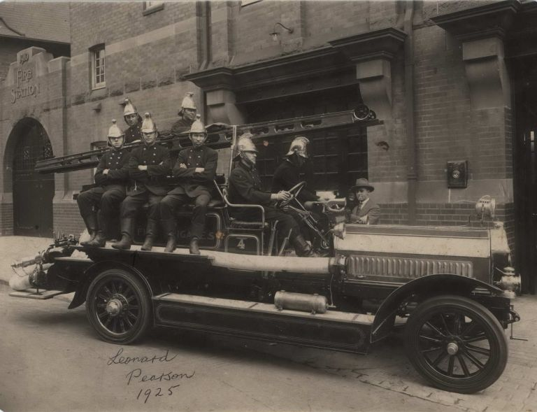 Fire Brigade In Front of Kings Cross Fire Station, Sydney