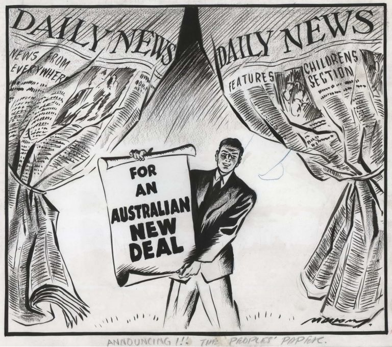 Announcing! The People's Paper. Will Mahony, Aust.