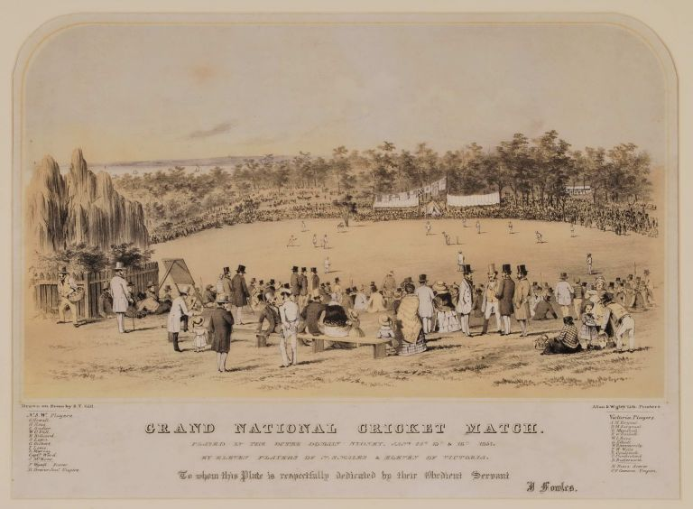 Grand National Cricket Match. S T. Gill, British/Australian.