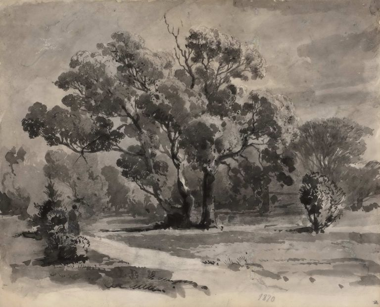 [Rural Landscape]. Louis Buvelot, Swiss/Australian.