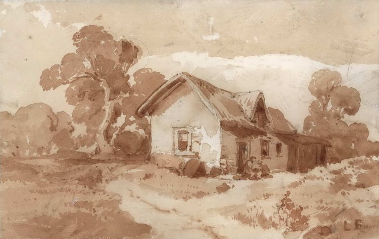 [House In The Country]. Louis Buvelot, Swiss/Aust.