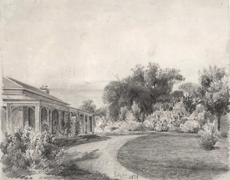 Lilydale, [Homestead In Victoria]. Attrib. Louis Buvelot, Swiss/Aust.