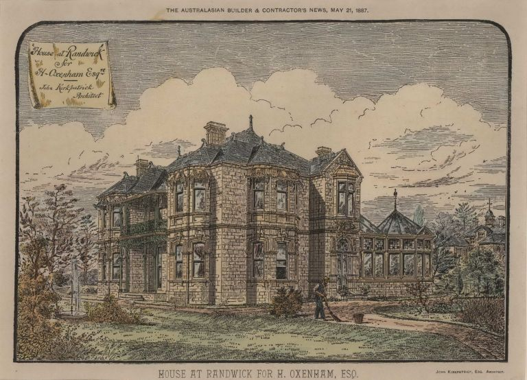 House At Randwick [Normanhurst] For H. Oxenham, Esq.