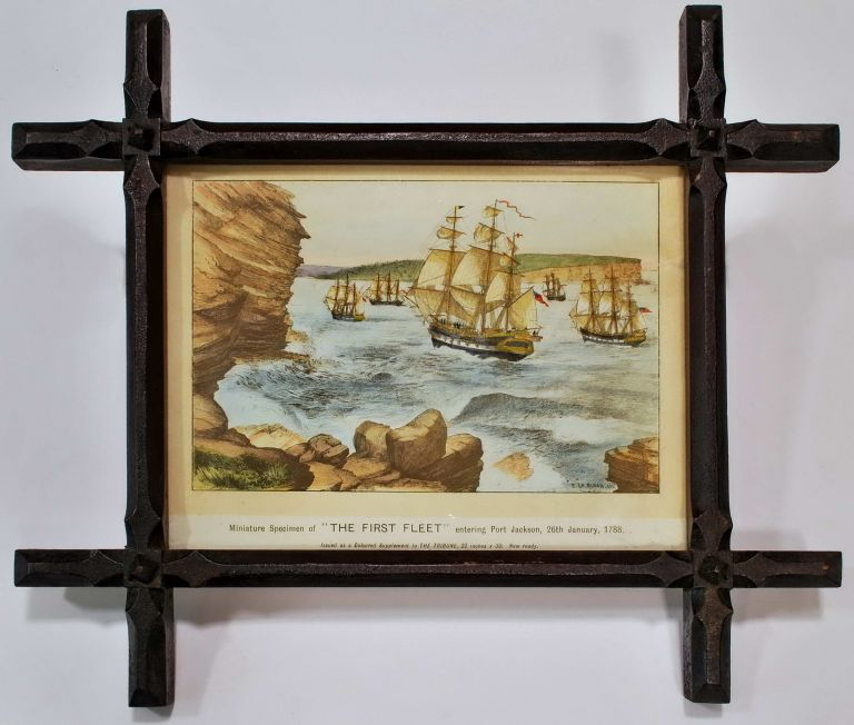 Miniature Specimen Of 'The First Fleet' Entering Port Jackson. After Edward Le Bihan, c. Aust.