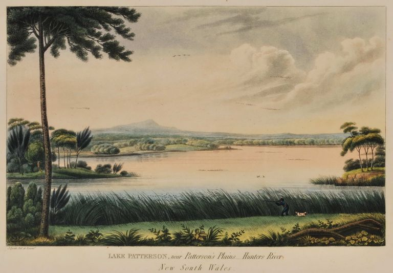 Lake Patterson, Near Patterson's Plains, Hunters River, New South Wales. Joseph Lycett, c1775-c1828 Aust.