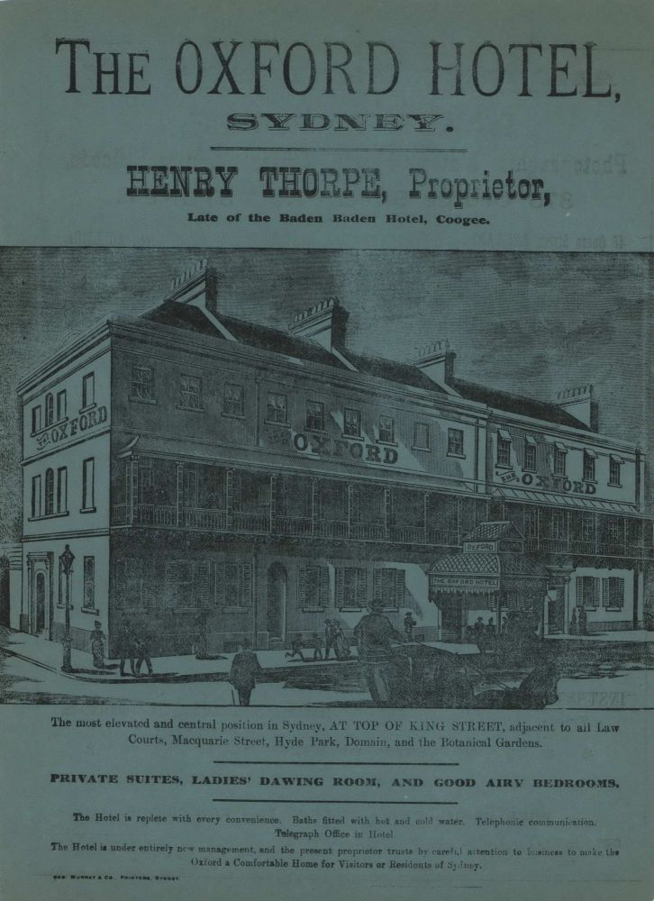 The Oxford Hotel, Sydney and Amateur Photography. Baker & Rouse, Photographic Materials And Optical Lantern Goods
