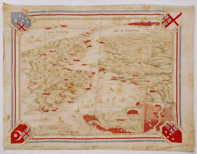 Map Of Gallipoli And The Dardanelles