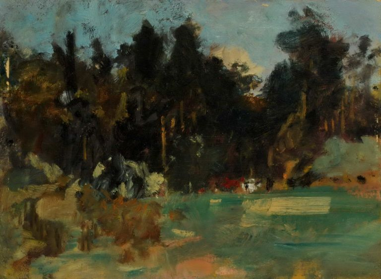Unfinished Landscape. Miles Evergood, Australian.