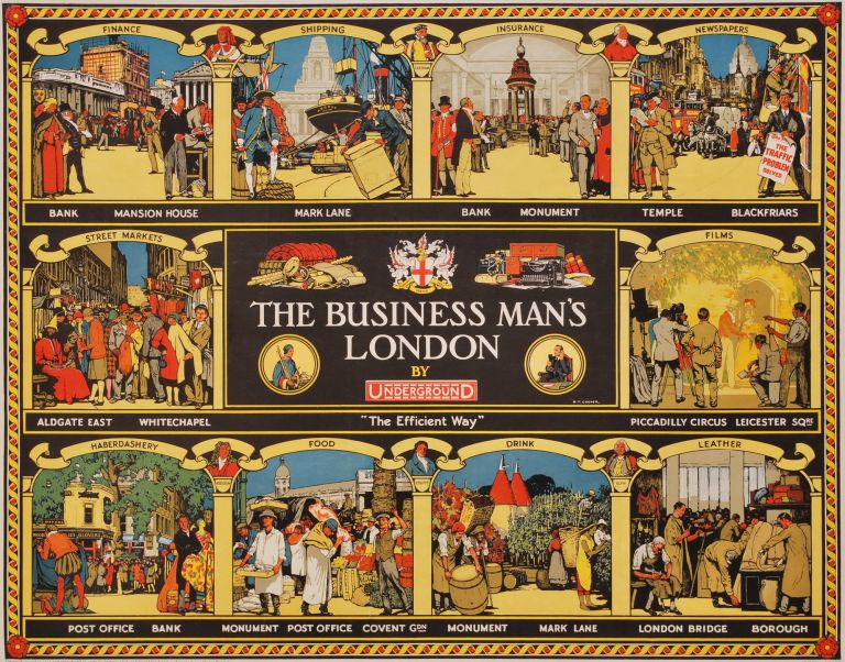 The Business Man's London, By Underground. R T. Cooper, British.