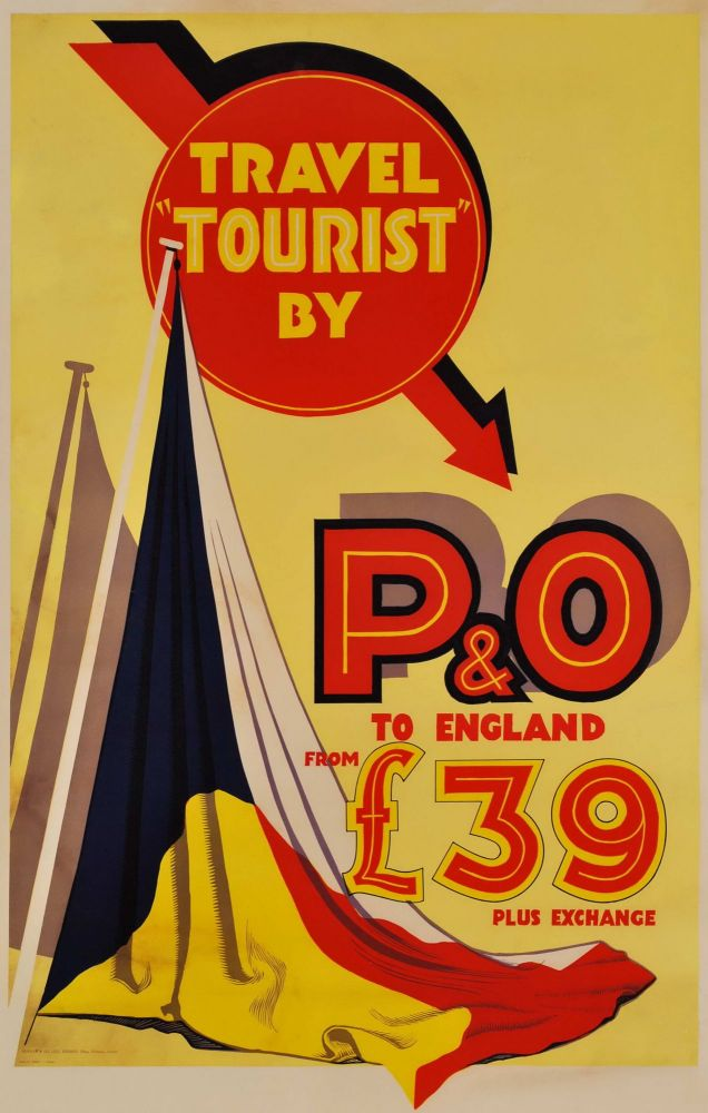 "Travel ""Tourist"" By P&O To England. Rhys Williams, Australian."
