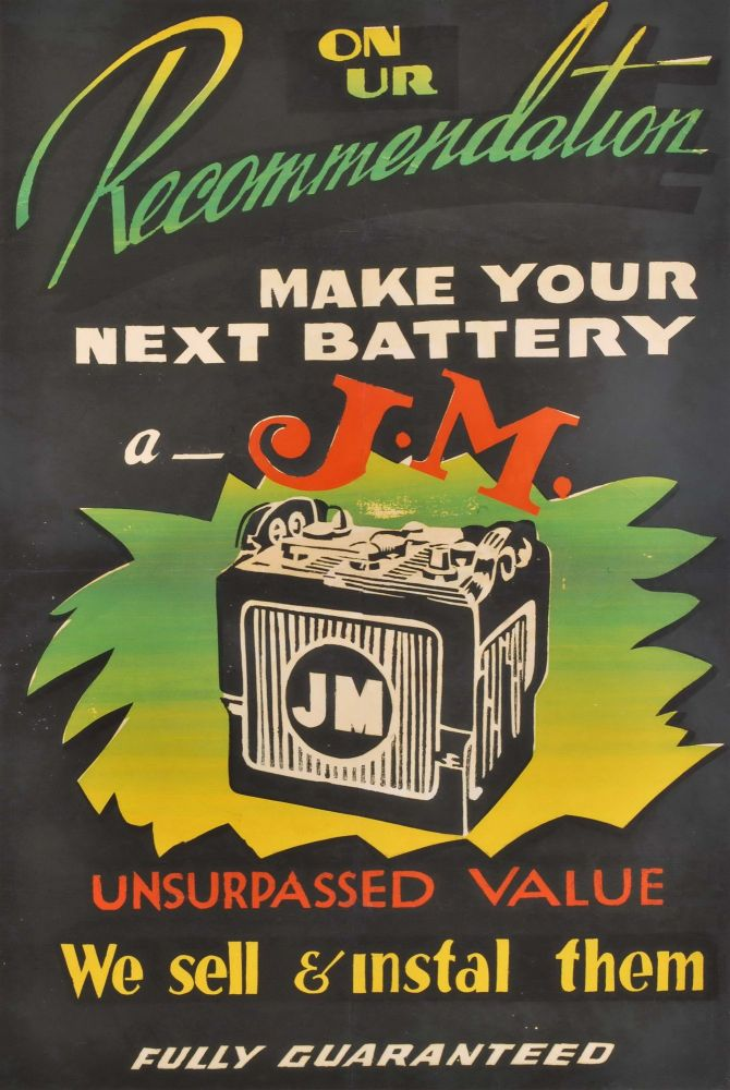 """On [O]ur Recommendation, Make Your Next Battery A """"J.M."""""""