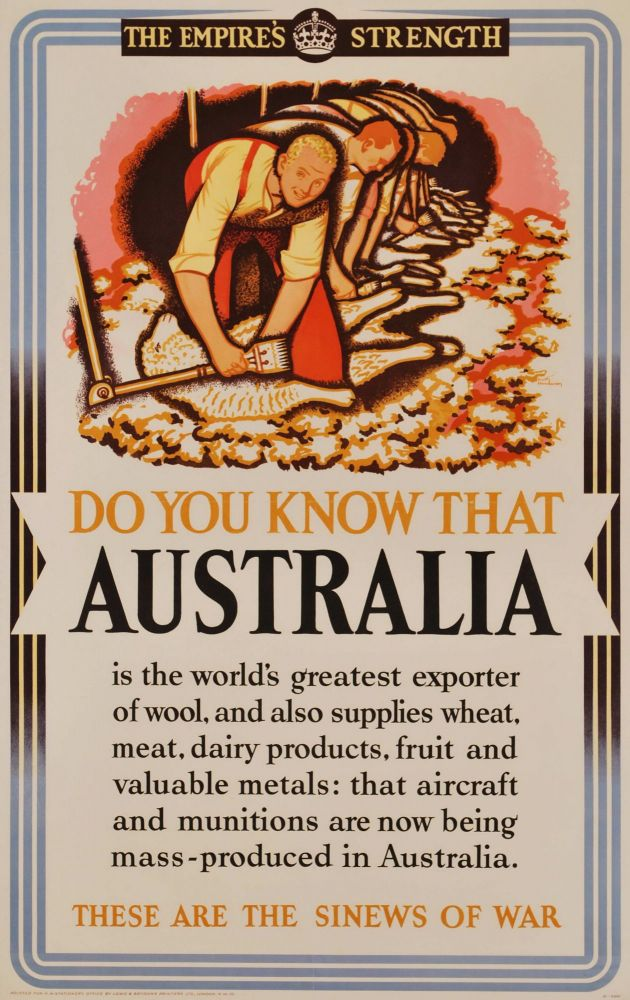 The Empire's Strength. Do You Know That Australia Is The World's Greatest Exporter Of Wool. Keith Henderson, Scottish.