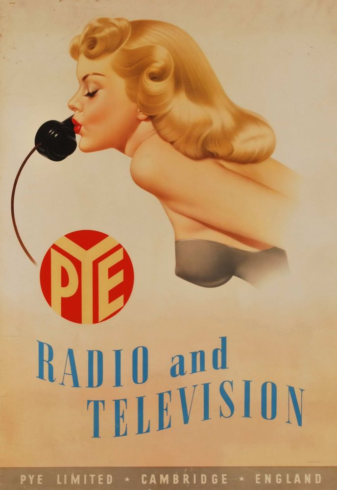 Pye Radio And Television [Blonde Woman With Phone]. Archie Dickens, Brit.