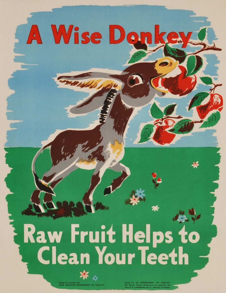 A Wise Donkey: Raw Fruit Helps To Clean Your Teeth