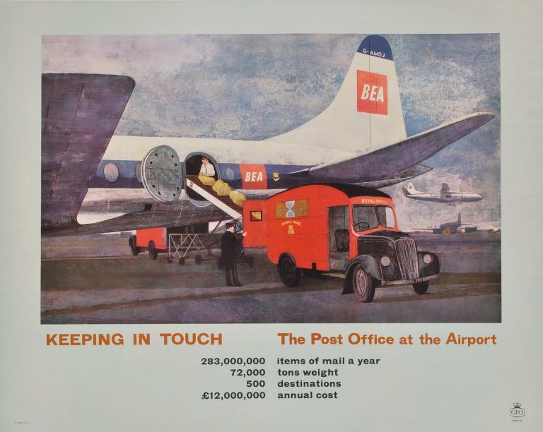 Keeping In Touch. The Post Office At The Airport [Royal Mail, Great Britain]