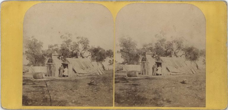 Wood Splitter's Hut, Black Forest, Victoria. Edward Haigh, fl. Aust Brit., c.
