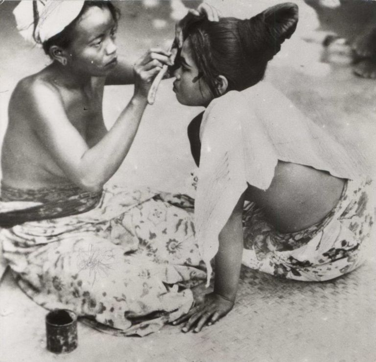 Beauty Treatment. Balinese Girls Making Up. E O. Hoppé, Brit.