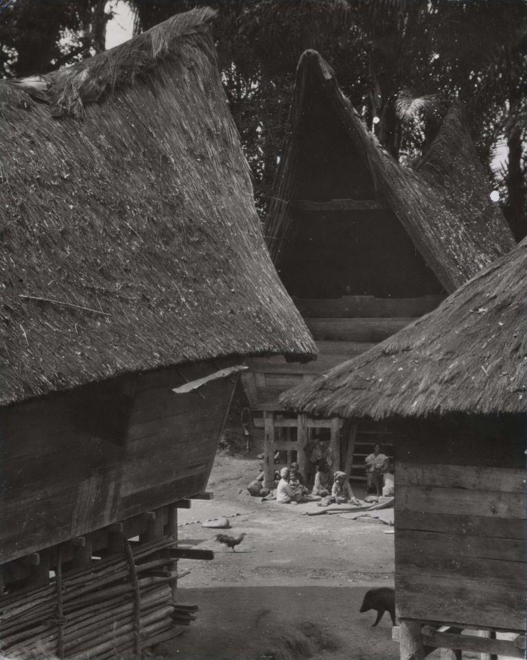 "The Typical ""Saddle-Back"" Dwellings In A Family Compound In Sumatra, Indonesia. E O. Hoppé, British."