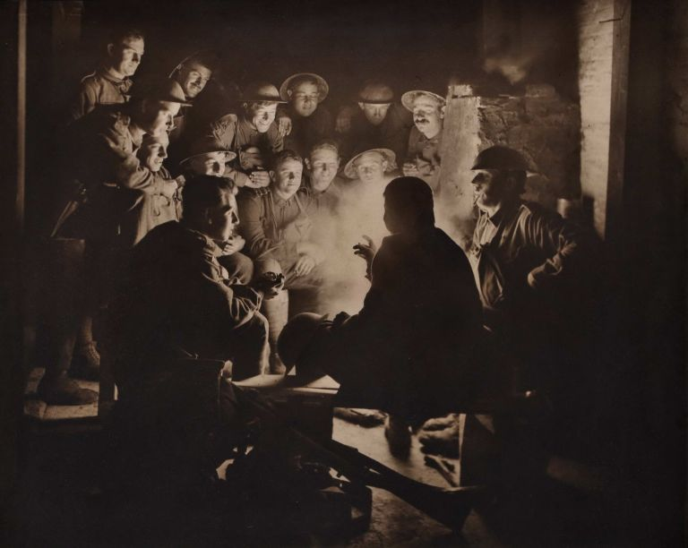 [Infantrymen Of The 1st Division During A Rest In The Dugouts At Ypres]. Frank Hurley, Aust.
