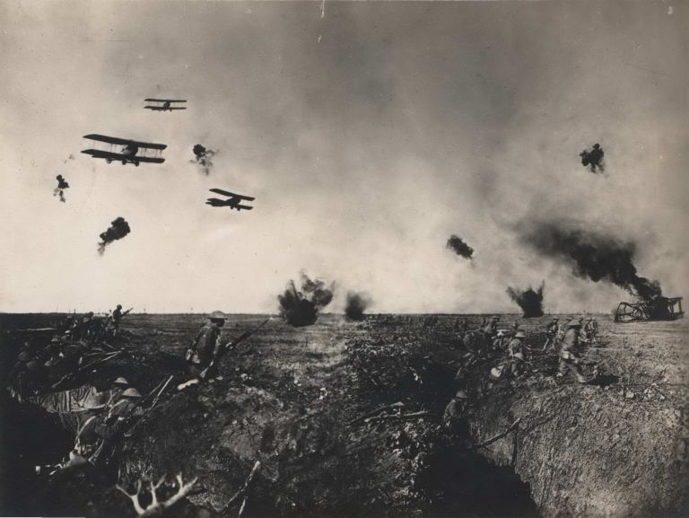 [Action At Zonnebeke, Belgium]. Frank Hurley, Aust.