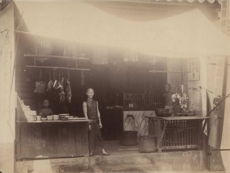 Chinese Eatinghause, Schlachter [Butcher], Singapore