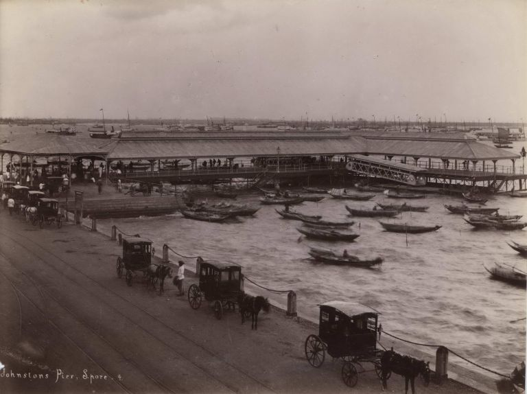 Johnston's Pier, Singapore. G R. Lambert, Co, active c1867-c1914 Singapore.