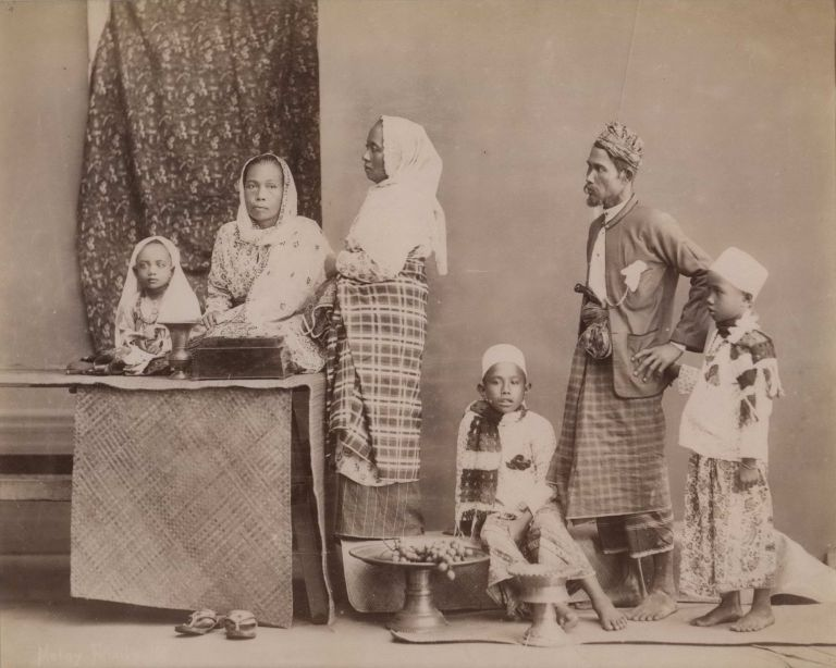 Malay Family. G R. Lambert, Co, active c1867-c1914 Singapore.
