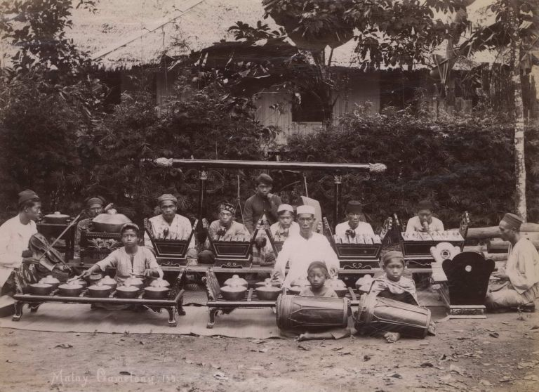 Malay Gamelong [Gamelan Ensemble]. G R. Lambert, Co, active c1867-c1914 Singapore.