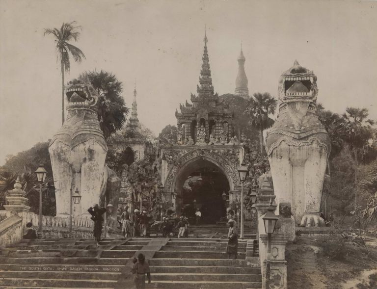 The South Gate, Shwe Dagon Pagoda, Rangoon [Burma]
