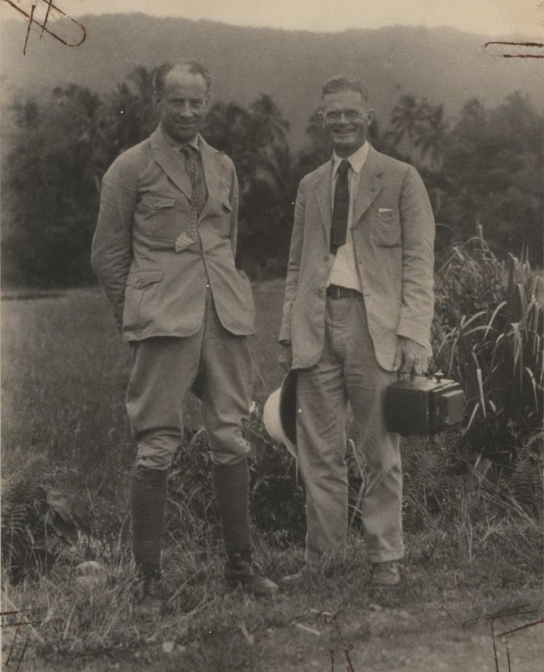 "Prof. L.F. De Beaufort And F.R.C. Jr, ""On The Equator"", Sumatra [Indonesia]"