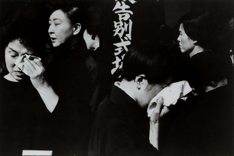 Funeral Of A Kabuki Actor, Japan. Henri Cartier-Bresson, French.