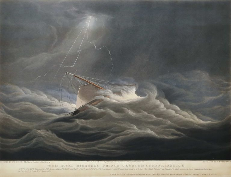 """[H.M. Revenue Cutter """"Prince George"""", On Voyages To And From Sydney]. After William John Huggins, Brit."""