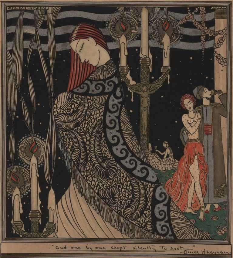 """""""And, One By One, Crept Silently To Rest"""" Omar Khayyam. Phyllis McLachlan, Aust."""